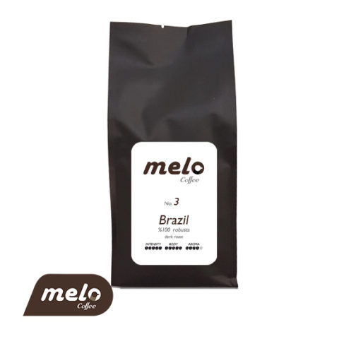 قهوه برزیل صد در صد روبوستا دارک