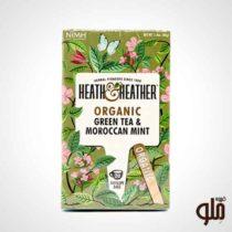 چای سبز اورگانیک و نعنای Heath & heather