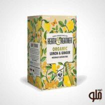دمنوش گیاهی اورگانیک لیمو زنجبیل هیت اند هیتر