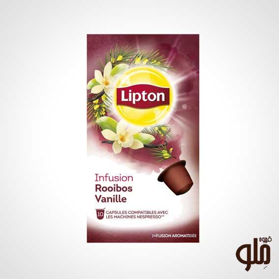 کپسول چای لیپتون طعم رویبوس وانیلی
