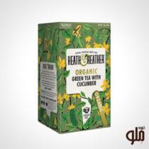 دمنوش گیاهی چای سبز و خیار