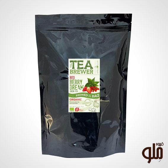 دمنوش چای سبز و میوه های وحشی