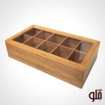 جعبه چای تی بگ چوبی