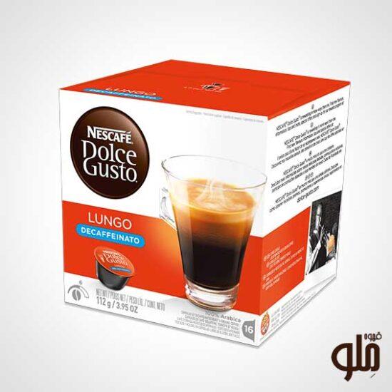 کپسول قهوه دولچه گوستو مدل لانگو دکافئین