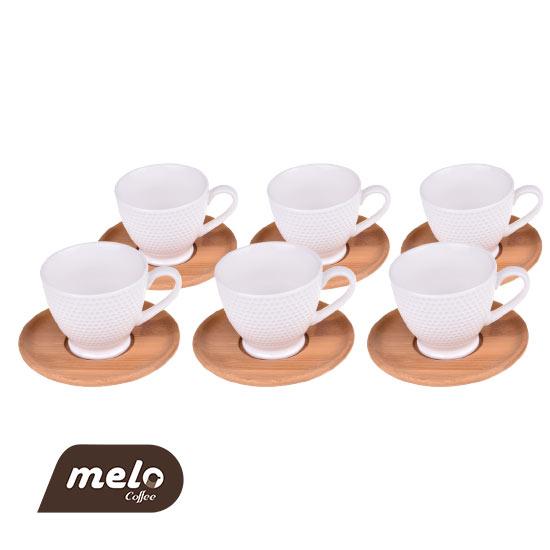 ست قهوه خوری ترک ۶ نفره بامبوم Meyo