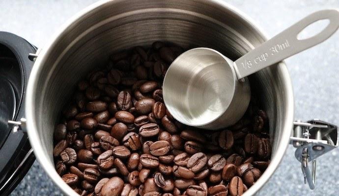 اندازه گیری دانه قهوه