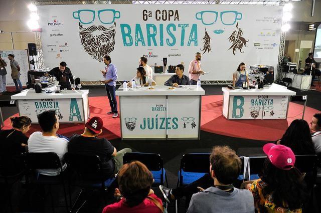 مسابقات قهرمانی باریستایی برزیل که در هفته بین المللی قهوه 2017 برگزار می شود. عکس: ویتور ماکتو