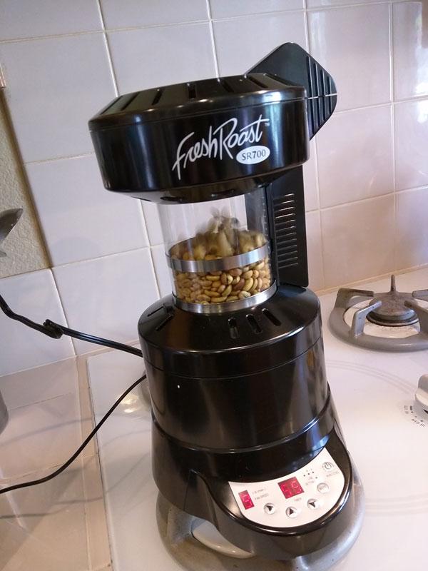 روش روست قهوه در خانه