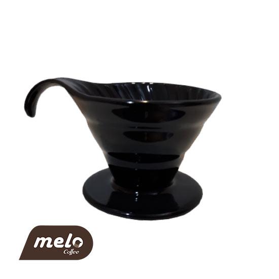 قهوه ساز v60 سرامیکی مشکی