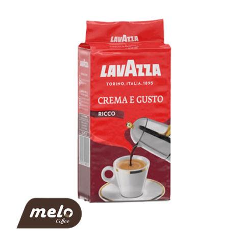 قهوه لاوازا crema Gusto ricco (آسیاب ۲۵۰ گرمی)