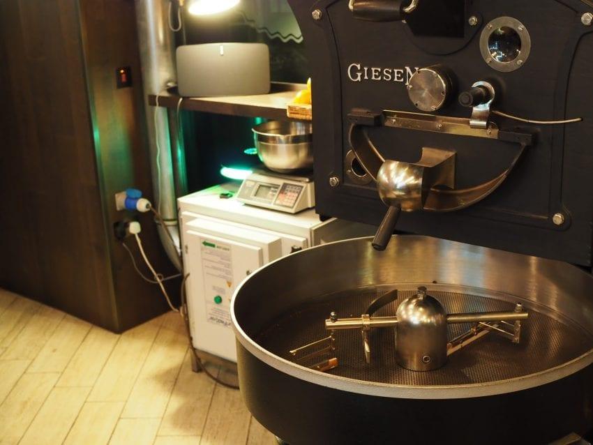 داخل یک مرکز برشته کردن قهوه