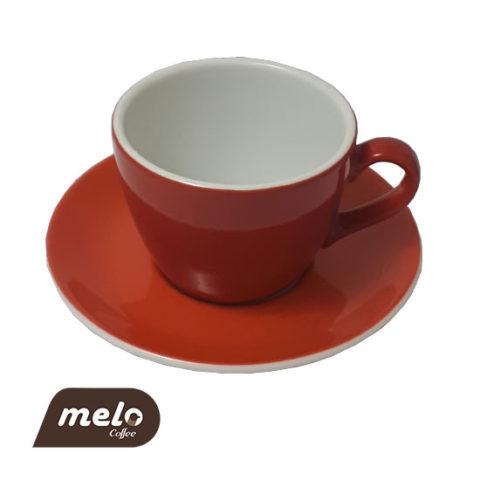 فنجان کاپوچینو نارنجی رنگ (Echenbach)